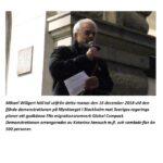 Mikael Willgerts tal på Mynttorget, 16/12-18